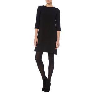 Goat Lola Wool Tunic Black Dress LBD Size 2